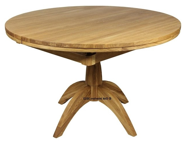 Circular Oak Dining Tables Throughout Most Recently Released Windsor Round Extending Solid Oak Dining Table From Solidoak Dining (View 5 of 20)