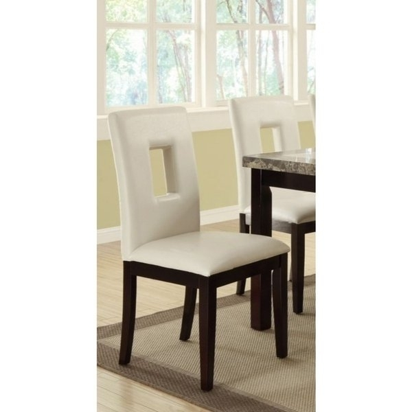 Classic Pine Wood Dining Chairs, Set Of 2, White And Brown – Free Intended For Most Recent Pine Wood White Dining Chairs (View 2 of 20)