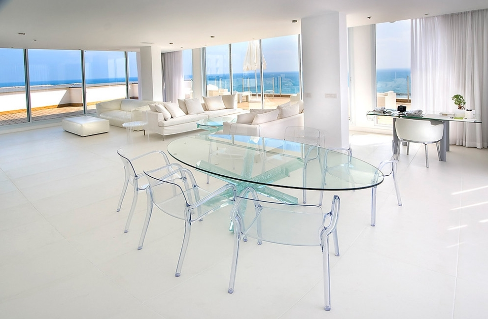 Clear Glass Dining Tables And Chairs In Most Recent Glass Pendant Lights Kitchen Transit Clear Glass Dining Table And (View 4 of 20)