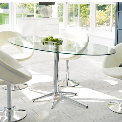 Clear Glass Dining Tables And Chairs In Widely Used Glass Dining Tables (View 5 of 20)