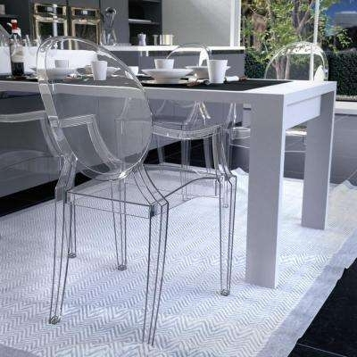 Clear Plastic Dining Tables Intended For Current Modern – Clear – Plastic – Dining Chairs – Kitchen & Dining Room (View 4 of 20)