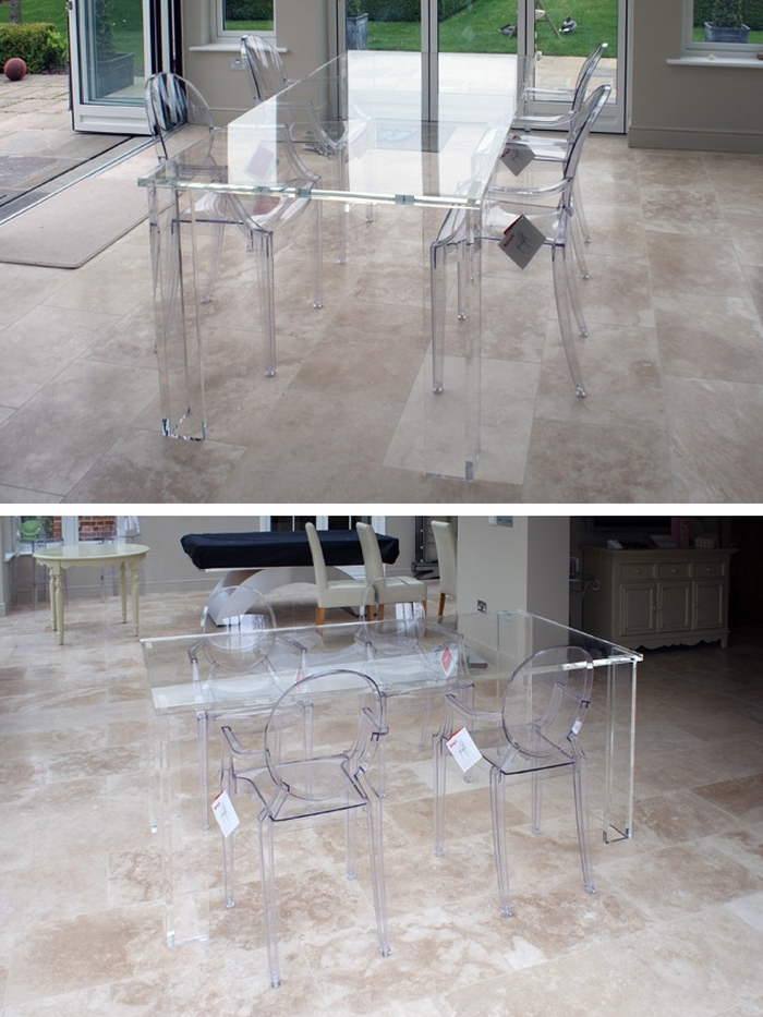 Clear Plastic Dining Tables Throughout Most Recently Released  (View 7 of 20)