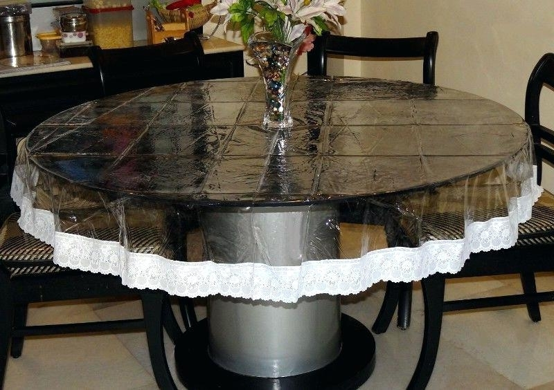 Clear Plastic Dining Tables Throughout Popular Clear Plastic Table Dining Table Cover Plastic Clear Plastic Table (View 8 of 20)