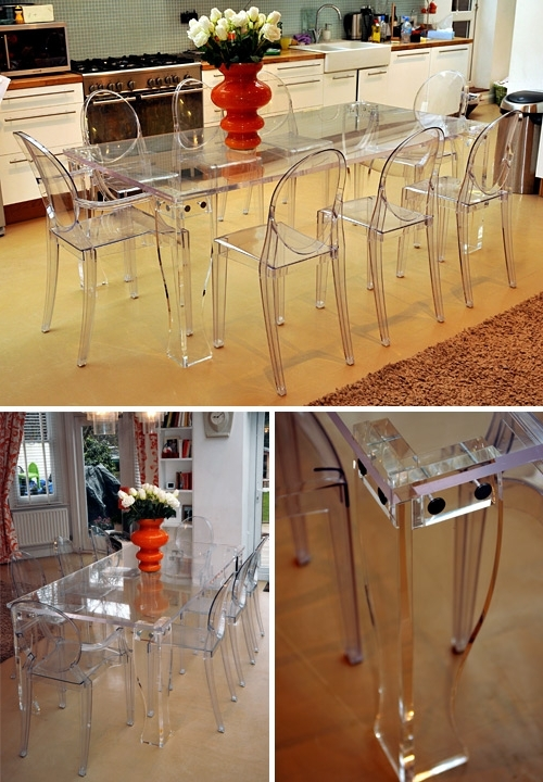 Clear Plastic Dining Tables Within Preferred Perspex Fabrication And Acrylic Fabrication – Perspex Furniture (View 9 of 20)