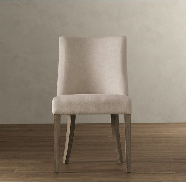 Clint Side Chairs Intended For Latest 1940s French Barrelback Fabric Side Chair (View 8 of 20)
