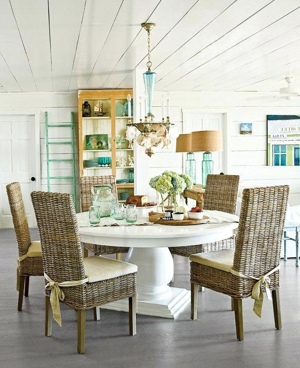 Coastal Dining Tables For Well Liked Beachy Kitchen Table Dining Table Kitchen Table Coastal Dining Table (View 6 of 20)