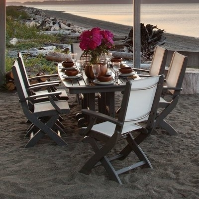 Coastal Throughout Chapleau Ii 7 Piece Extension Dining Tables With Side Chairs (View 9 of 20)