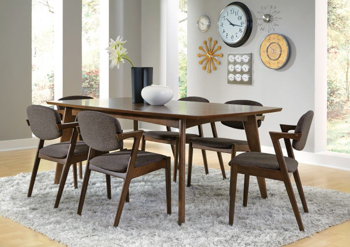 Coaster 105351 Malone 7 Piece Walnut Dining Set Pertaining To Widely Used Walnut Dining Table Sets (View 6 of 20)