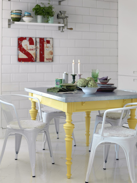 Colorful Painted Dining Table Inspiration With Regard To Preferred Painted Dining Tables (View 4 of 20)