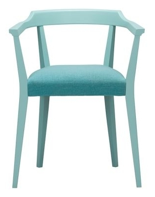 Coloured Dining Arm Chairs – Candice – Wood Finish Upholstered Seat With Regard To Most Up To Date Candice Ii Upholstered Side Chairs (View 9 of 20)
