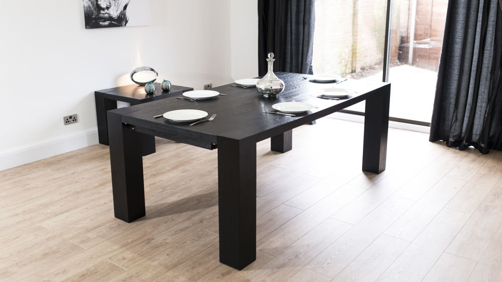Coloured Dining Chairs For Well Known Extending Black Dining Tables (View 2 of 20)