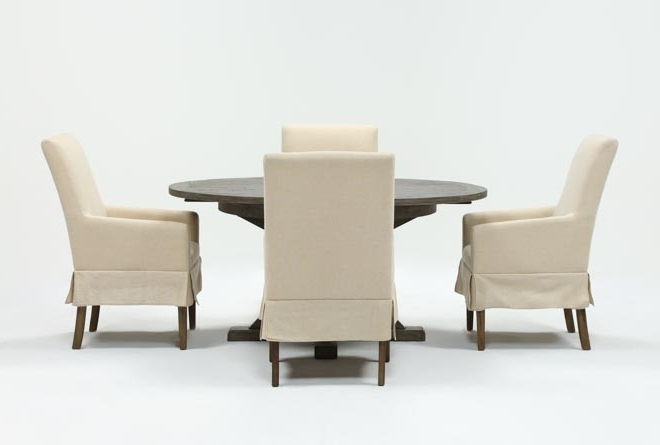 Featured Photo of Combs 5 Piece 48 Inch Extension Dining Sets With Pearson White Chairs