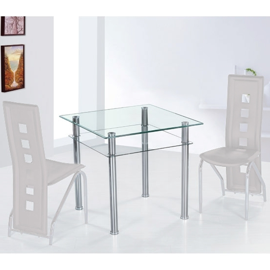 Como Clear Glass Dining Table Only 7115 Furniture In With Trendy Como Dining Tables (View 6 of 20)