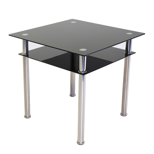 Como Square Glass Dining Table Black Inside 2017 Como Dining Tables (View 11 of 20)