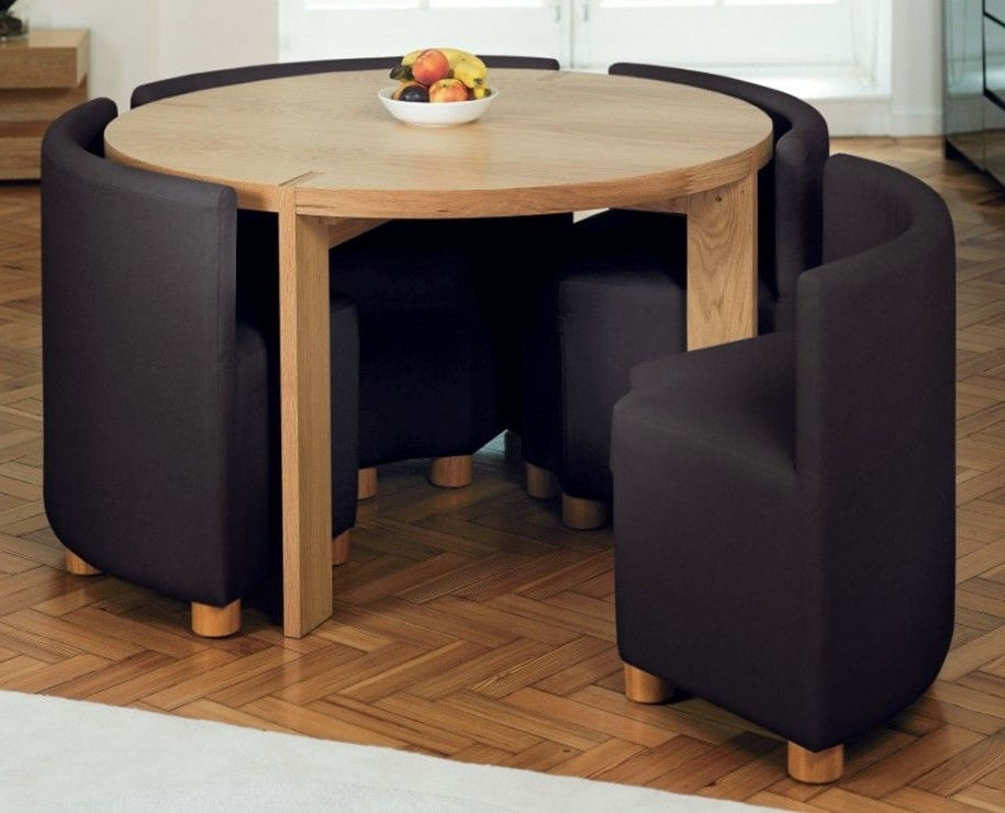 Compact Dining Room Sets Regarding Favorite Amazing Small Dining Room Sets Brown Color Round Shape Design (View 7 of 20)