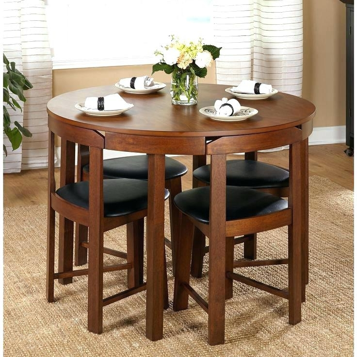 Compact Dining Tables And Chairs Inside Newest Compact Dining Table And Chairs Small Dining Table Sets Small Round (View 18 of 20)