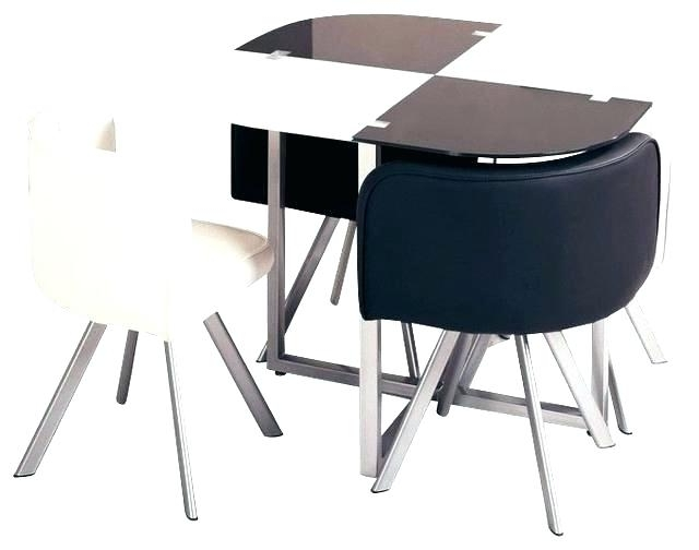 Compact Dining Tables In Popular Compact Dining Table And Chairs Small Set For 2 Room Sets Ebay Comp (View 4 of 20)