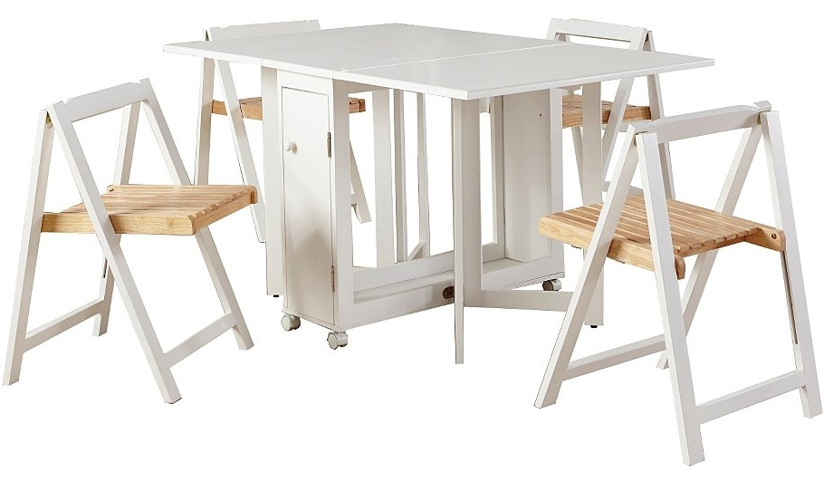 Compact Folding Dining Table And Chairs Within Idea – Chair Intended For Popular Compact Folding Dining Tables And Chairs (Gallery 3 of 20)