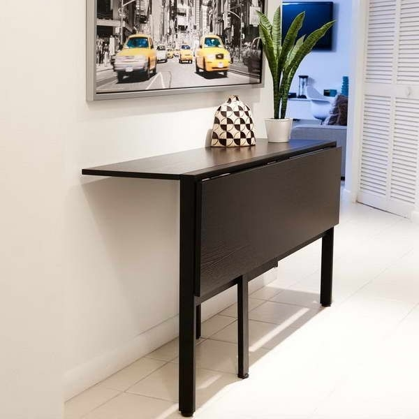 Compact Folding Dining Tables And Chairs For Most Current Fold Down Table For Tiny Kitchen (View 6 of 20)