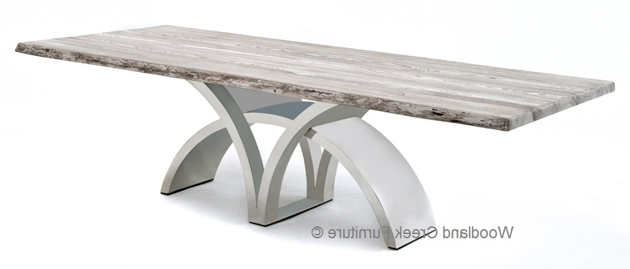 Contemporary Base Dining Tables With Preferred Dining Table With Contemporary Stainless Steel Base (View 2 of 20)