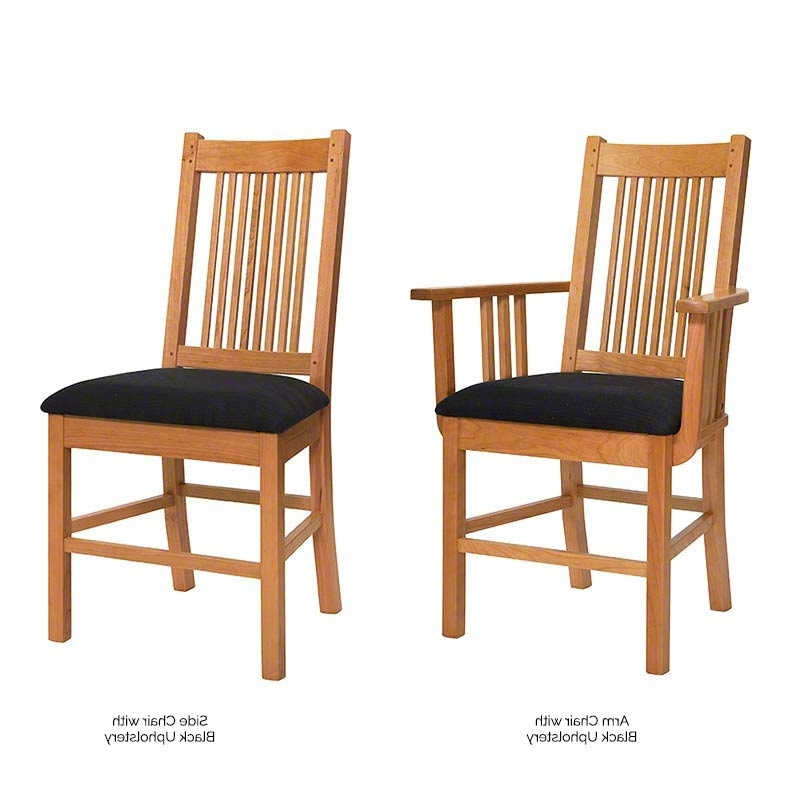 Contemporary Craftsman Dining Set – Vermont Woods Studios Intended For Fashionable Craftsman Upholstered Side Chairs (View 3 of 20)