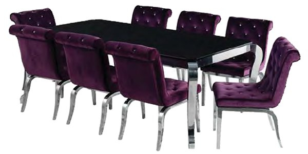 Contemporary Dining Furniture In 2017 Dining Tables And Purple Chairs (View 6 of 20)