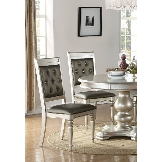 Contemporary Dining Furniture Pertaining To 2018 Shop Dollis Rhinestone Tufted Contemporary Dining Chairs (Set Of  (View 5 of 20)