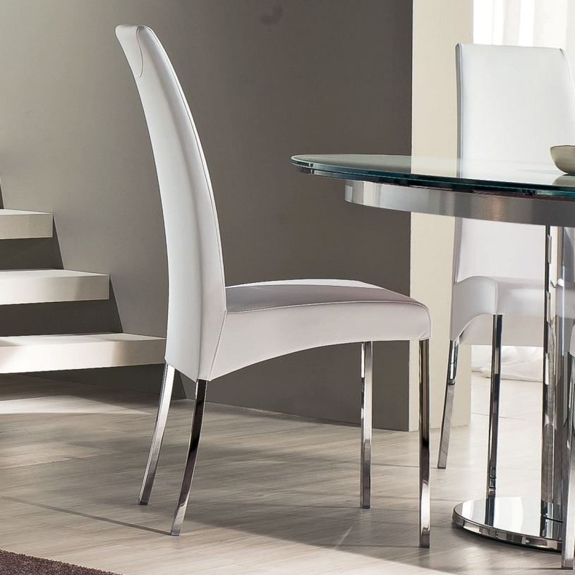 Contemporary Dining Room Chairs Pertaining To Most Recent Luxury Simplicity Of Modern White Dining Chairs Dining Counter (View 7 of 20)