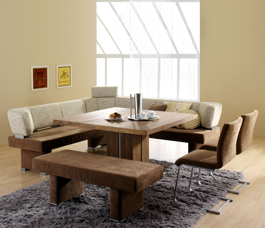 Contemporary Dining Room Design With Square Wooden Dining Room Throughout Most Recently Released Small Dining Tables And Bench Sets (View 6 of 20)
