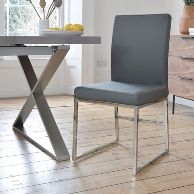 Contemporary Dining Room Furniture From Dwell With Grey Dining Chairs (View 2 of 20)