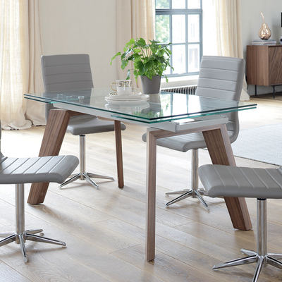Contemporary Dining Room Furniture From Dwell With Regard To Glass Extending Dining Tables (View 3 of 20)
