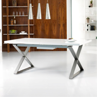 Contemporary Dining Room Furniture From Throughout Latest Extending White Gloss Dining Tables (Gallery 17 of 20)
