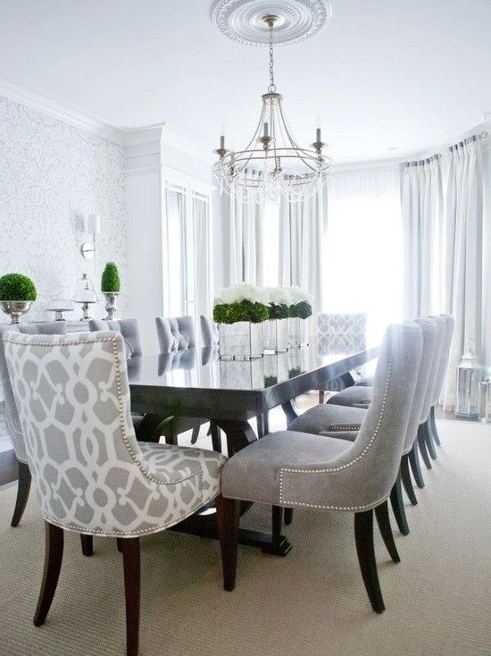 Contemporary Dining Room — Love The Patterned Chairs For The Head With Fashionable Contemporary Dining Room Chairs (View 5 of 20)