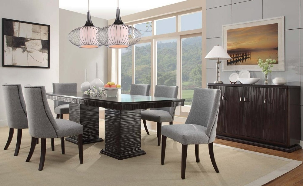 Contemporary Dining Room Sets Concept Heavenly Furniture Decor A Regarding Well Liked Contemporary Dining Tables Sets (View 4 of 20)