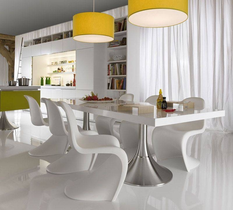 Contemporary Dining Room Tables And Chairs Pertaining To 2017 Make Your Dining Space Modern With The Contemporary Dining Room Sets (View 7 of 20)
