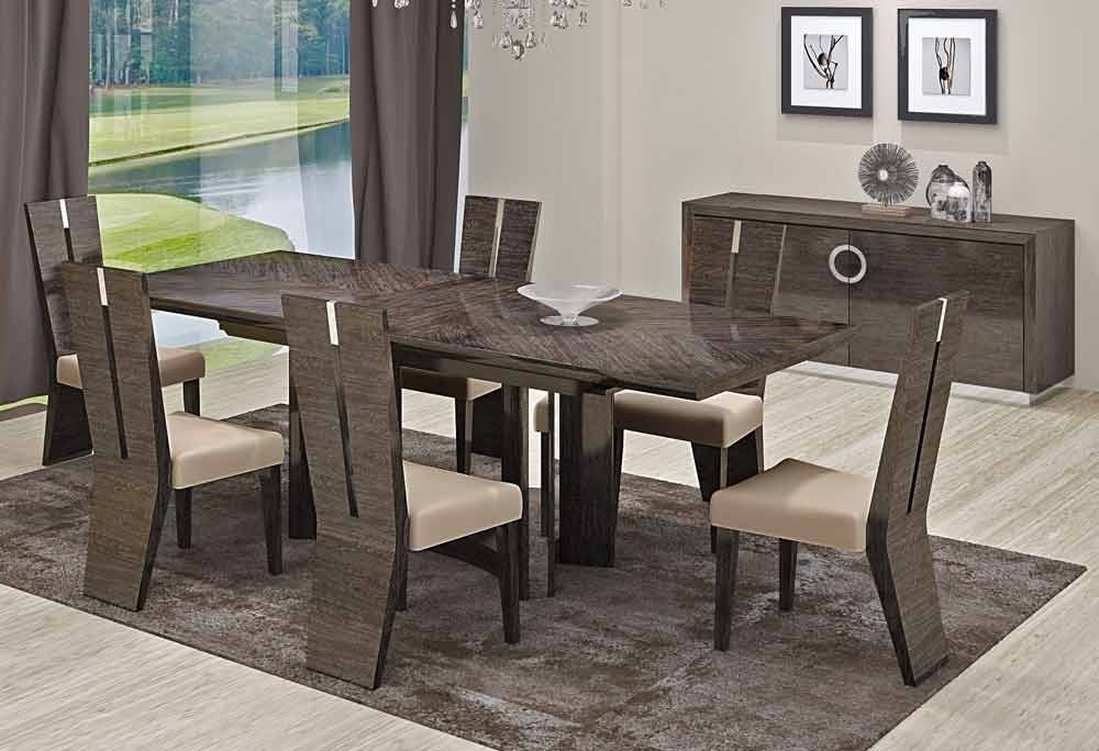 Contemporary Dining Room Tables And Chairs With Regard To Favorite Dining Room Solid Dining Table Contemporary Dining Room Table And (View 9 of 20)