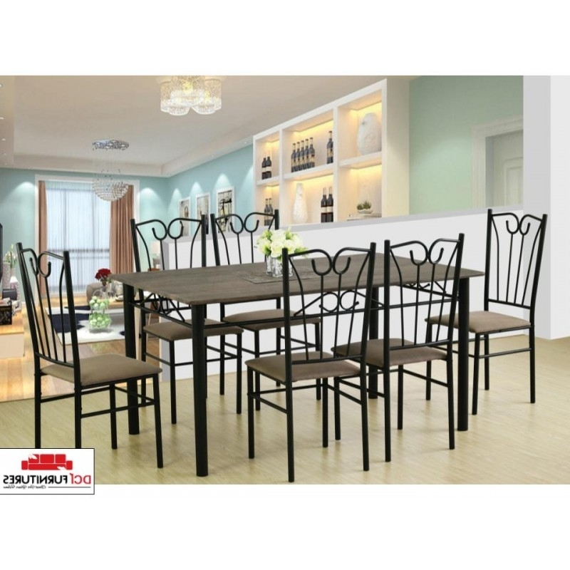 Contemporary Dining Table With 6 Chairs Within Latest Contemporary Dining Furniture (Gallery 11 of 20)