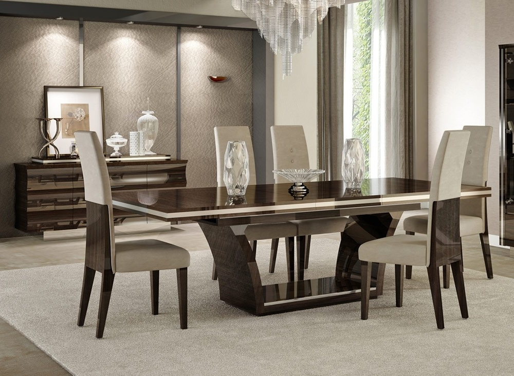 Contemporary Dining Tables With Regard To Recent Giorgio Italian Modern Dining Table Set (View 8 of 20)