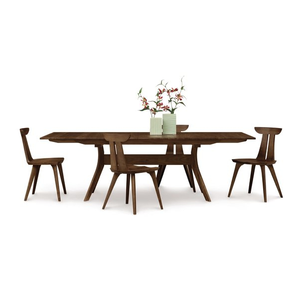 Copeland Furniture Audrey 7 Piece Solid Wood Dining Set & Reviews Intended For Well Known Laurent 7 Piece Rectangle Dining Sets With Wood And Host Chairs (View 3 of 20)
