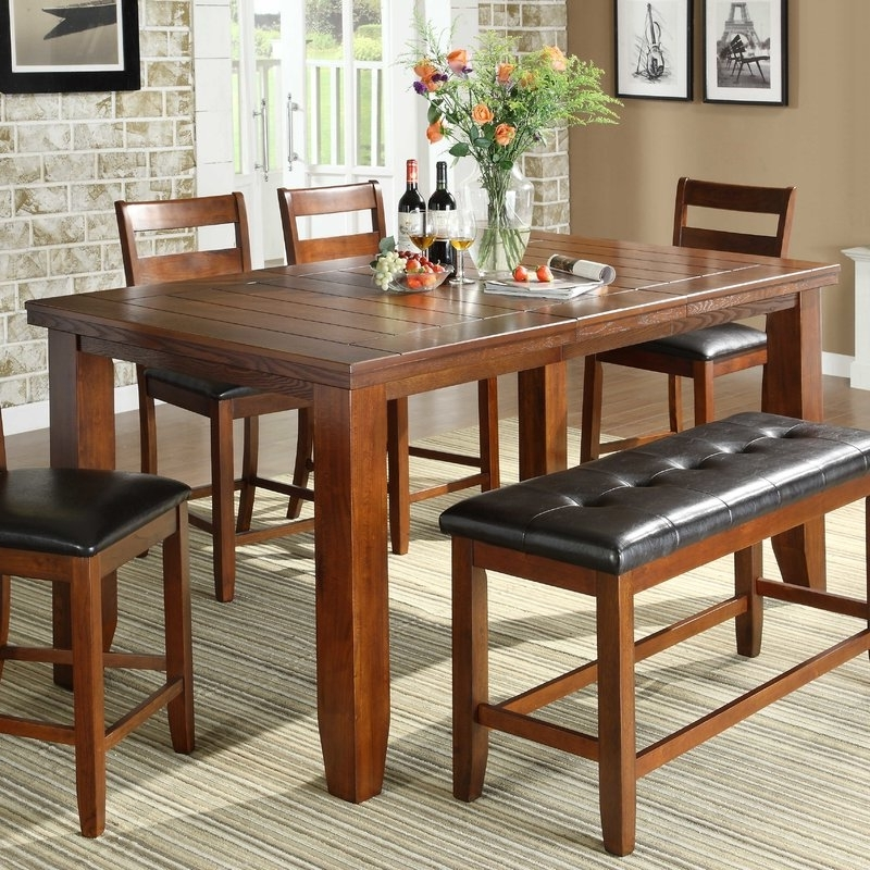 Cora 5 Piece Dining Sets Regarding Well Known Counter Height Rustic & Farmhouse Kitchen & Dining Tables You'll (Gallery 5 of 20)