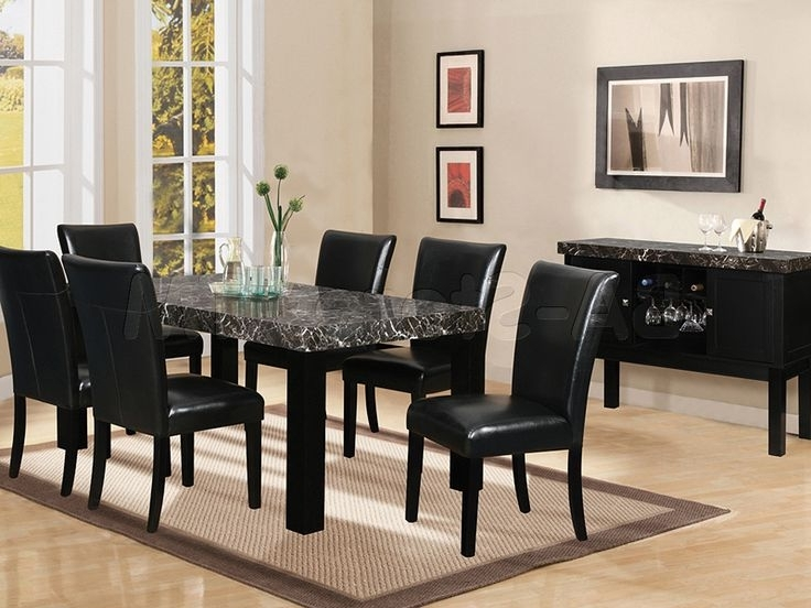 Cora 7 Piece Dining Sets Pertaining To Most Recent How To Select Black Dining Table And Chairs – Blogbeen (View 16 of 20)