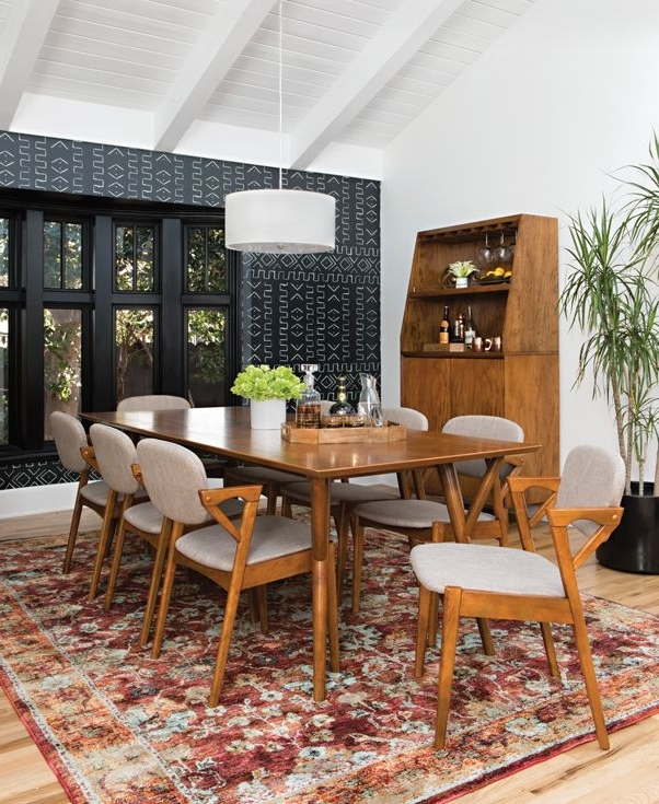 Cora 7 Piece Dining Sets With Regard To Most Recent Mod 7 Piece Extension Dining Set (View 10 of 20)