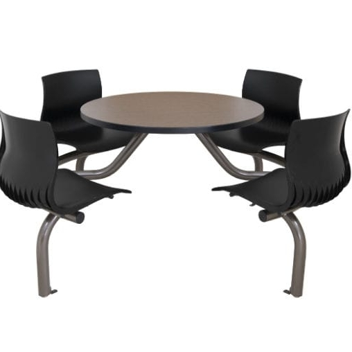 Cora Dining Tables With Trendy Dining Table / Round / With Attached Chair – Cora – Erg International (View 13 of 20)