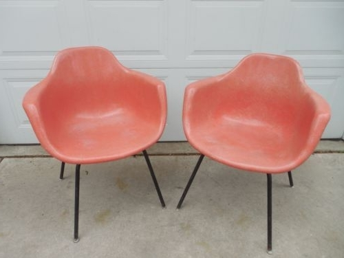 Cora Ii Arm Chairs Inside Current 2 Vintage Mid Century Modern Krueger Fiberglass Shell Arm Chair (View 7 of 20)