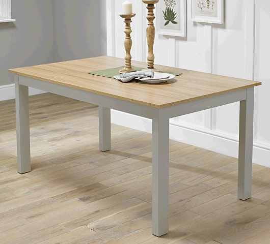 Cotswold Dining Tables Within Well Liked Cotswold Dining Table In Grey – Kit & Caboodle (View 5 of 20)