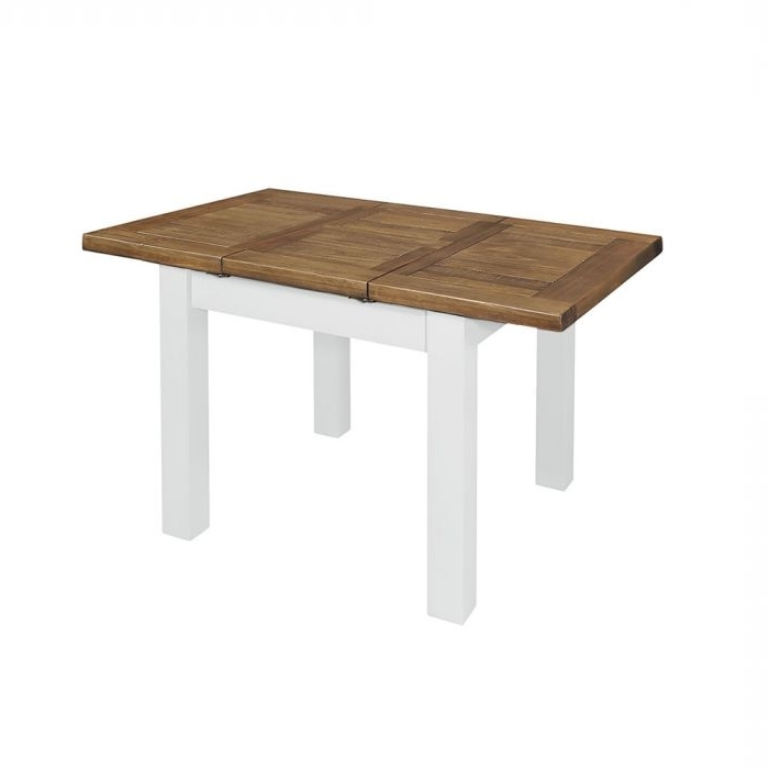 Cotswold Rustic Pine 90Cm X 90Cm Extending Dining Table In White Pertaining To Widely Used Cotswold Dining Tables (View 7 of 20)
