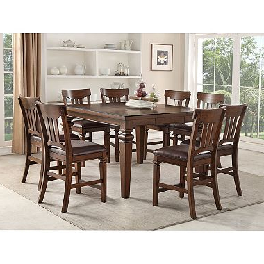 Counter Height Inside Craftsman 7 Piece Rectangle Extension Dining Sets With Uph Side Chairs (View 13 of 20)