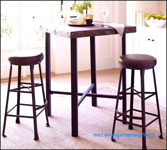 Counter Height Table And Bar Stools Griffin Reclaimed Wood Bar With Regard To Latest Hyland 5 Piece Counter Sets With Stools (Gallery 11 of 20)