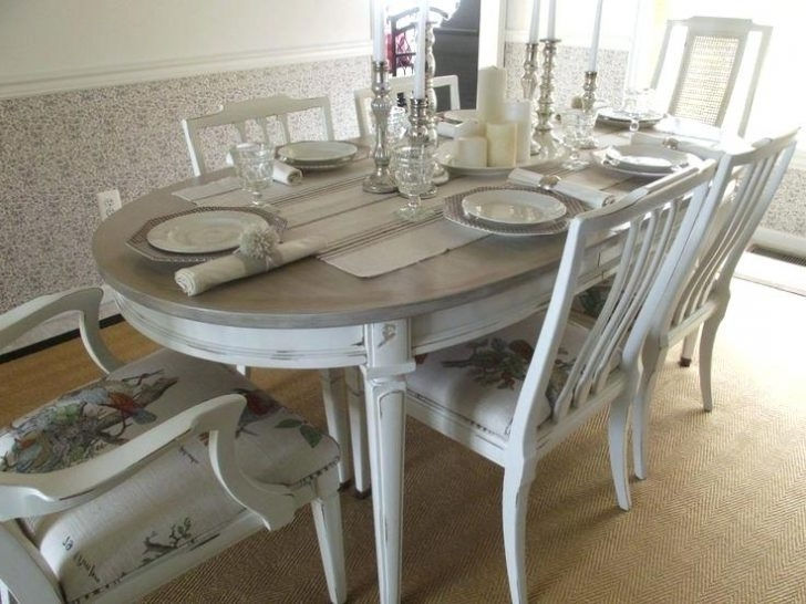 Country Dining Table French Set In Antique White Finish 9 Home Decor Pertaining To Most Popular Country Dining Tables (View 15 of 20)