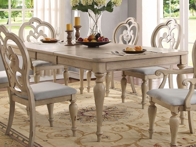 Country Dining Tables Regarding Most Popular French Country Dining Table Set (View 2 of 20)